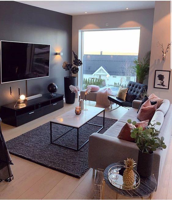 25 Most Comfortable And Warm Living Room Design Ideas Decortrendy Com Cute Living Room Apartment Living Room Living Room Decor Apartment Pretty small living room design