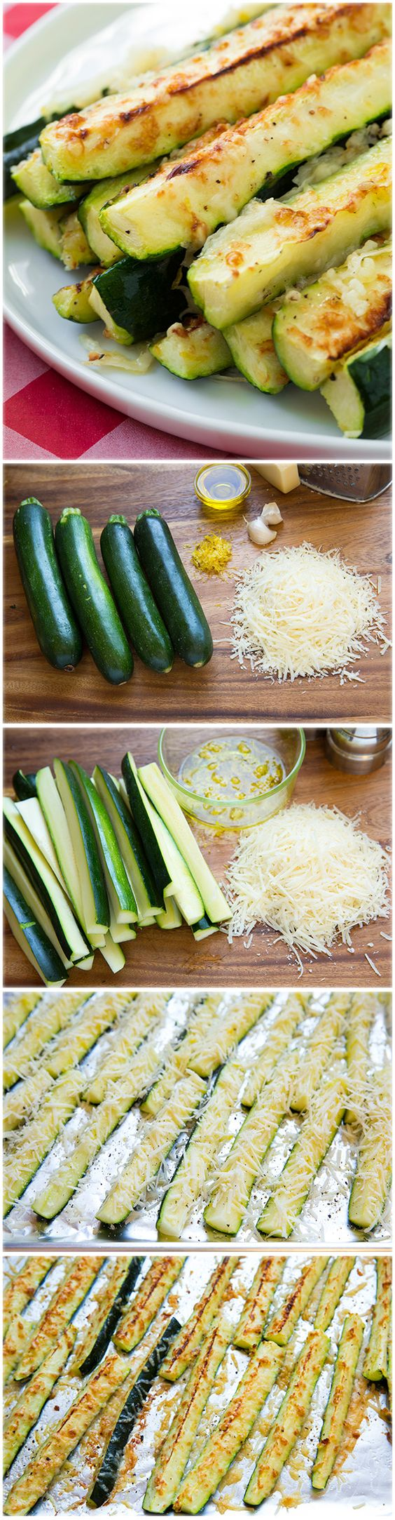 Garlic Lemon and Parmesan Oven Roasted Zucchini - I think I finished half of the recipe off myself! So delicious!