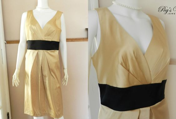 A personal favorite from my Etsy shop https://www.etsy.com/ca/listing/270693763/vintage-donna-ricco-gold-satin-sheath