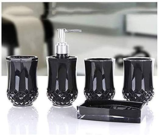Soap Dispenser Bathroom Accessories Set Bathroom Accessories Set Acrylic Bathro In 2020 Lotion Dispenser Bathroom Bathroom Accessories Sets Black Bathroom Accessories