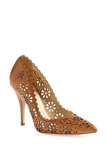 New Kate Spade pumps in carmel. Pretty.: Kate Spade Pumps, Cutout Pumps, Shoes Boots, Perforated Pumps, Lana Pumps, Kate Spade Shoes, Pumps Check, Pumps Pretty