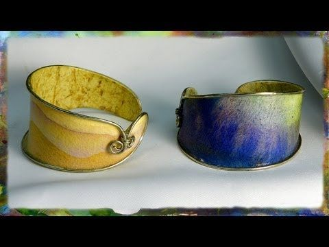 How to Make a Watercolor Paper Bracelet: Integrating Wire with Watercolo...