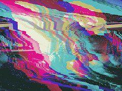 ugh (8 color) (cubeghost) Tags: flowers distortion flower color glitch glitching glitchart databending databent databend bigpixels