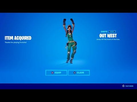Fortnite Emotes In Roblox Youtube How To Get Out West Now Free In Fortnite Unlock Out West Emote Free Out West Emote Youtube In 2020 Fortnite Cool Pictures How To Get