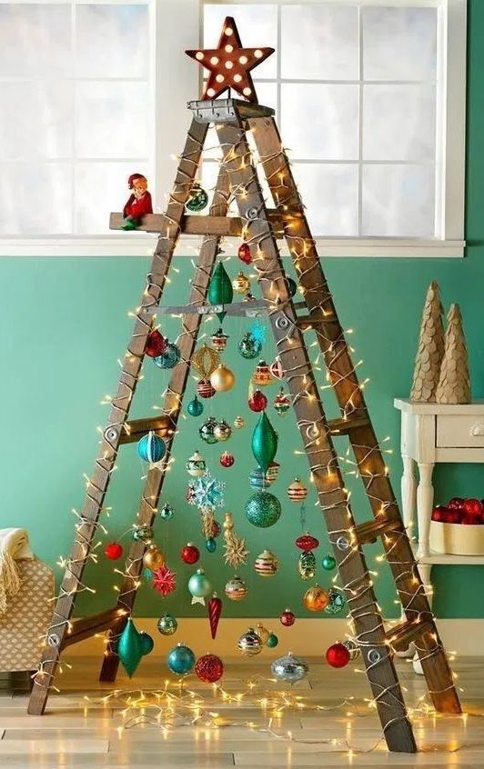 40 Creative Diy Christmas Decoration Ideas Page 34 Of 45 Sciliy Different Christmas Trees Creative Christmas Trees Unusual Christmas Trees