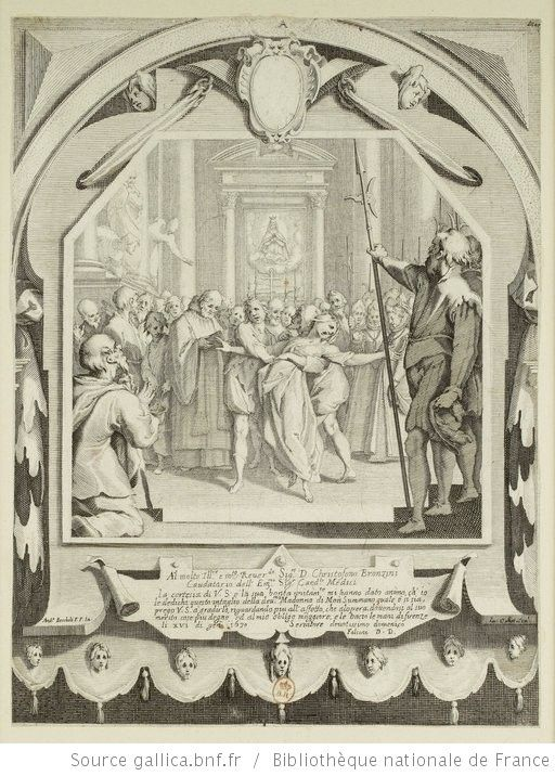[La possédée ou l'exorcisme] : [estampe] ([5e état]) / Ia. Callot Scall : ; And.a Boscholi P. F. In. - 1