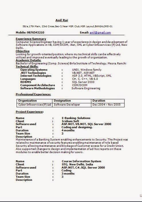 free download biodata format for job Sample Template Example of - package handler resume