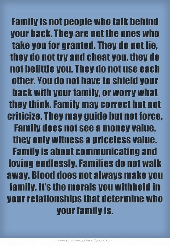 Blood does not always make you family