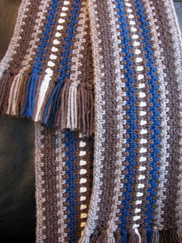 The Every Man Scarf Free Crochet Pattern From Fiber Flux With Video