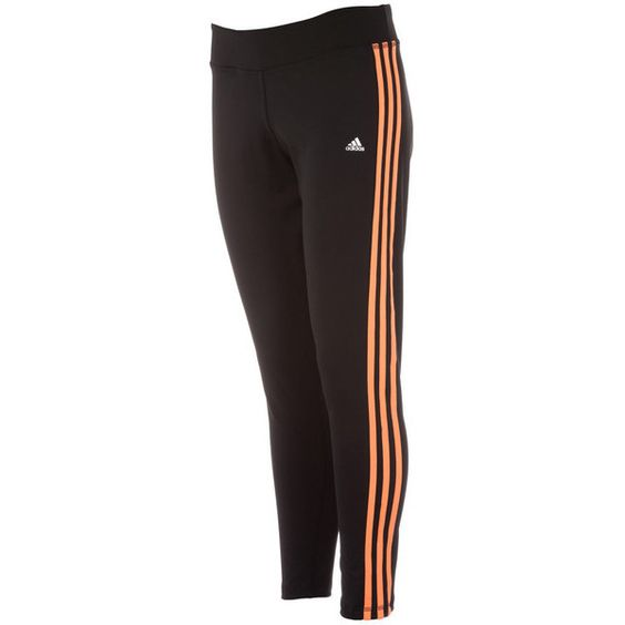 Black adidas Womens Workout Tights via Polyvore featuring activewear, activewear pants, adidas activewear, adidas and adidas sportswear