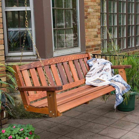 Porch swing plans google search gazebos and pergolas for Log porch swing plans