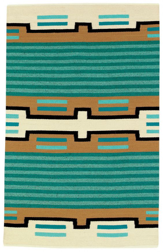 Great pattern with teal and tan