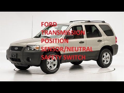2000 2006 Ford Escape Transmission Range Position Sensor How To Change The Sensor Youtube In 2020 Transmission Ford Transmissions Ford Escape