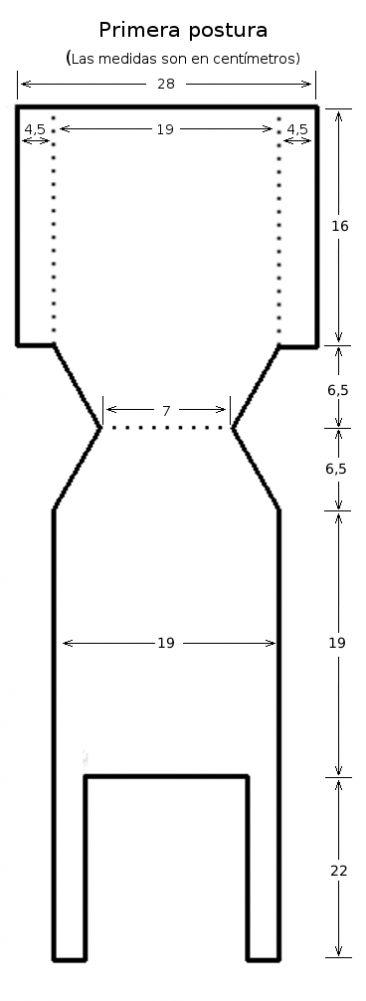 ara hacer este pantalón, te facilitamos las explicaciones para primera postura y los patrones para primera postura, 3 meses y 6 meses.