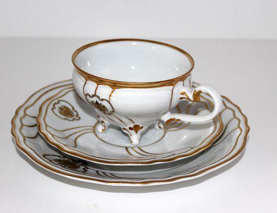 Altes Weimar Porzellan-Elfenbeinfarben-Tee/Kaffeegedeck/Sammeltasse 6.tlg | eBay