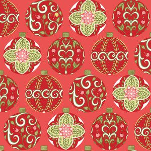 Amanda Murphy - Holiday Bouquet - Floral Ornaments in Red