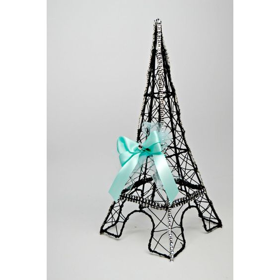 Wire Eiffel Tower Centerpiece/Paris Centerpiece/Wedding ($38