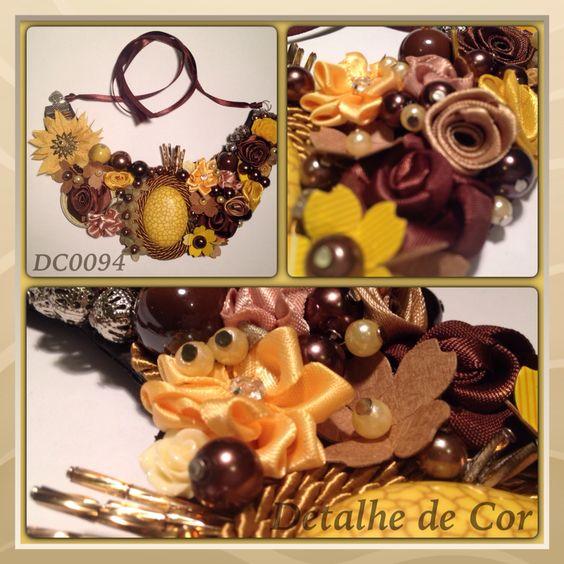 #necklace #detalhedecor #maxicolar #colarfloral