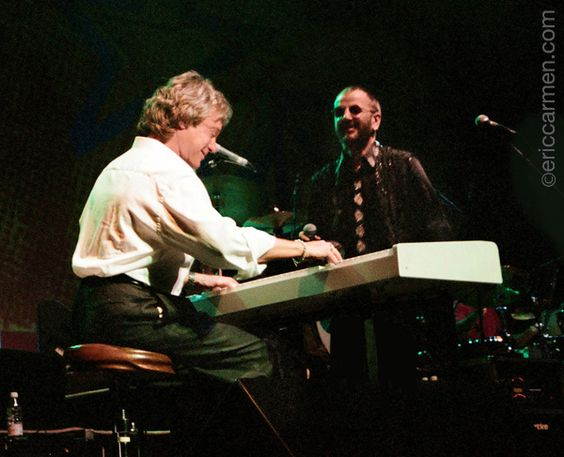 Eric Carmen and Ringo Starr on stage 2000. (Yes, THAT Ringo!)