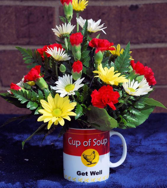 get well soon with a fresh cup of soup