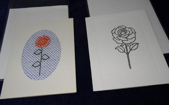 two greetings cards with flowers by LittleInsect on Etsy £1.99