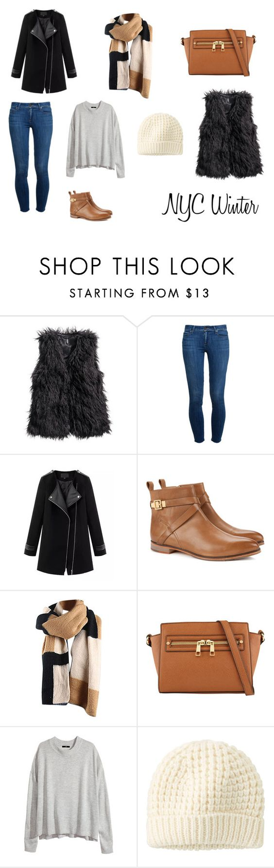 """NYC Winter"" by iwanttotravel ❤ liked on Polyvore featuring H&M, Paige Denim, Chicnova Fashion, Ted Baker, ALDO and Uniqlo"