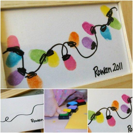 Thumb+Print+Christmas+String+Lights+Art+