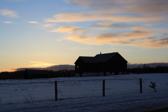 Evening winter sky.