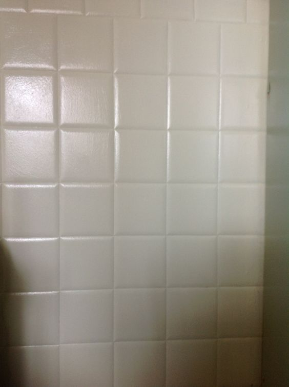 Paint bathroom tiles paint bathroom and primer on pinterest for Painting shower tiles bathroom