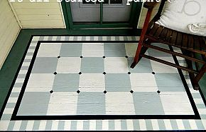 Don't you just love this rug? Its painted on the floor