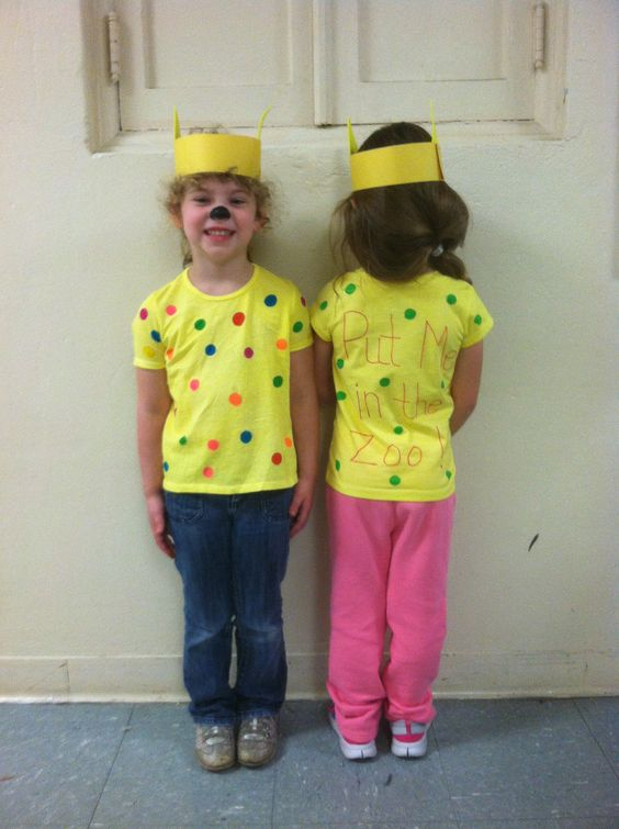 Classroom Dress Up Ideas ~ Our class chose quot put me in the zoo as dr seuss book