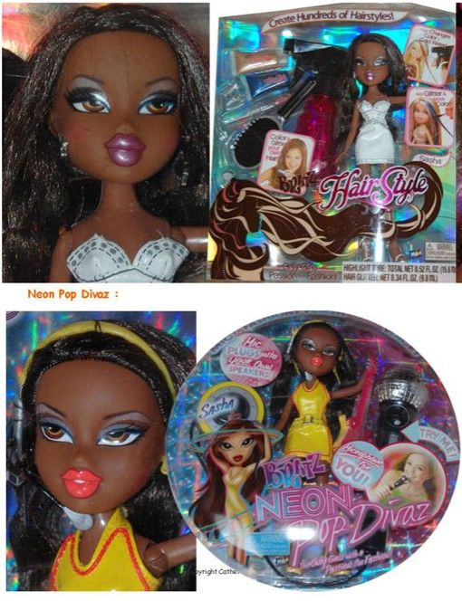 Bratz Playset Hair Style Neon Pop Divaz Sasha Playset Neon Disney Characters