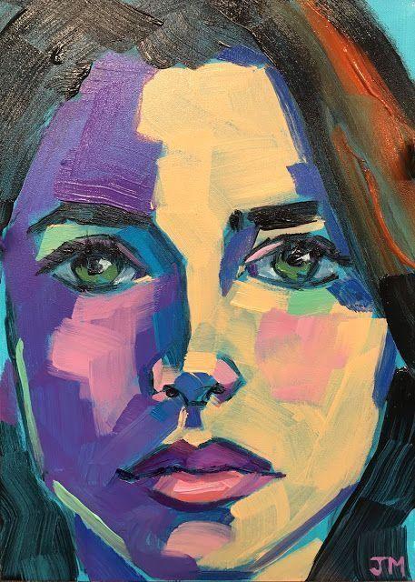 Umdruck Portrait 2 Modern Gesicht Malerei 50x50 Malerei
