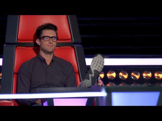 Adam Levine on the voice <3