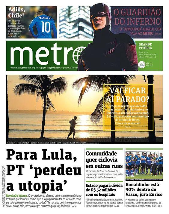 Sedentarismo já alcança quase metade dos brasileiros, no Metro Grande Vitória!