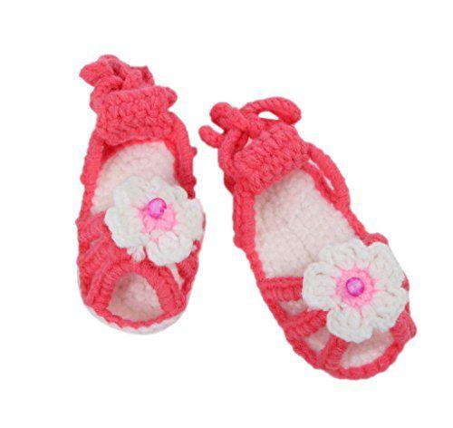 Smile YKK Strickschuh Strick Schuh Baby Unisex süße Stil One-Size 11cm Blume Rot - http://on-line-kaufen.de/smile-ykk/smile-ykk-strickschuh-strick-schuh-baby-unisex-21