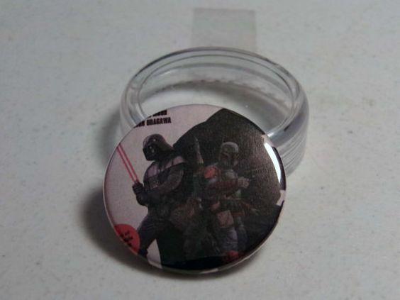"Comic Book 1.5"" Button// Star Wars// Darth Vader and Boba Fett, $1.00"