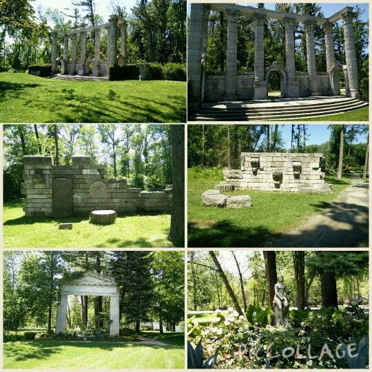 Wedding Ceremony Or Picture Venue Many Old Statues And Structures In Guild Park Gardens At Scarborough Bluffs Parks