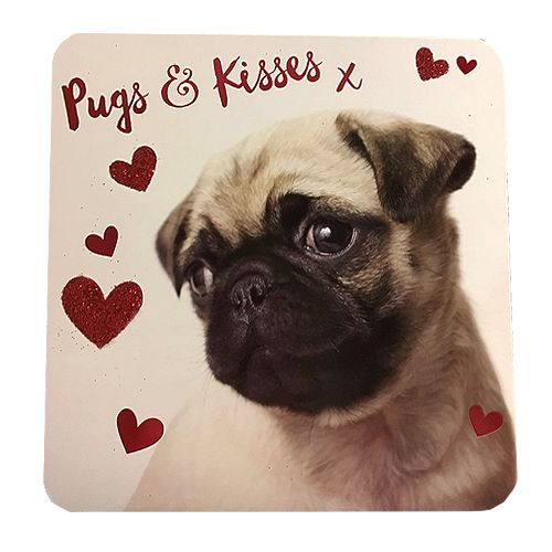 Cute Pug Valentines Day Card At Www Ilovepugs Co Uk Post Worldwide