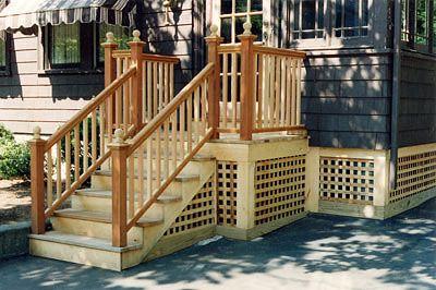 Small Simple Porch House Deck Tiny House Trailer Decks Porches