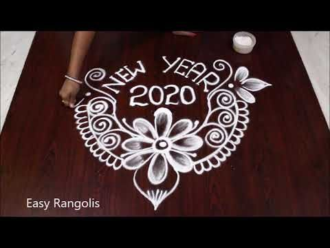new year 2020 special rangoli design for beginners sankranthi muggulu easy rangolis youtube rangoli designs rangoli ideas special rangoli new year 2020 special rangoli design