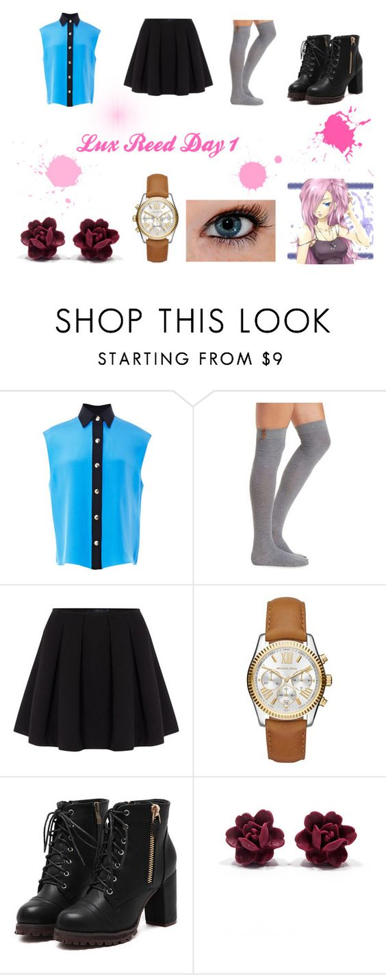 """Lux Reed Day 1"" by lunuju ❤ liked on Polyvore featuring FAUSTO PUGLISI, Charlotte Russe, Polo Ralph Lauren and Michael Kors"