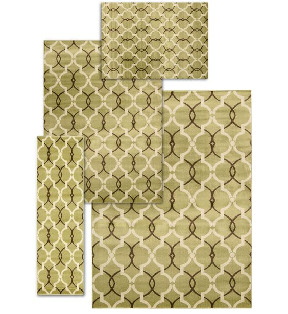 Nova 4 Piece Handmade Apple Area Rug Set