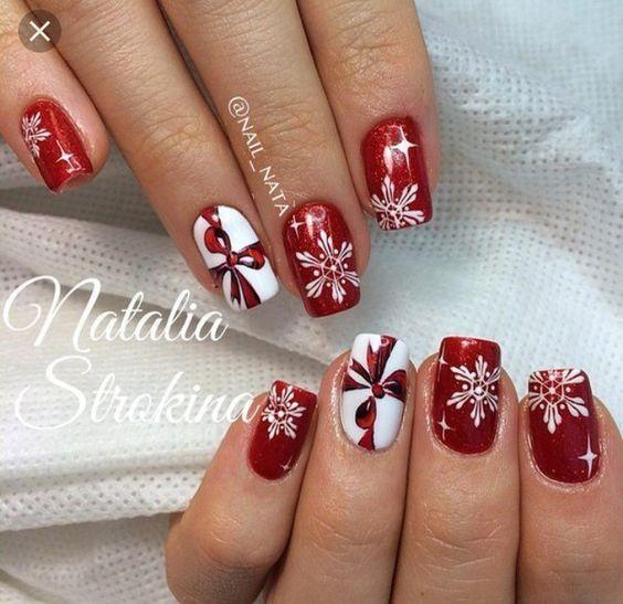 27 Christmas Nail Designs Festive Nail Art Ideas Allthestufficareabout Trendy Nails Nail Art Designs Nails