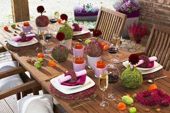 Kugel vasen und servietten ringe aus heide for Tisch design servietten
