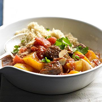 Serve our Beef Stew with Butternut Squash with couscous!