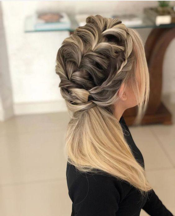penteados para madrinha tranças grande