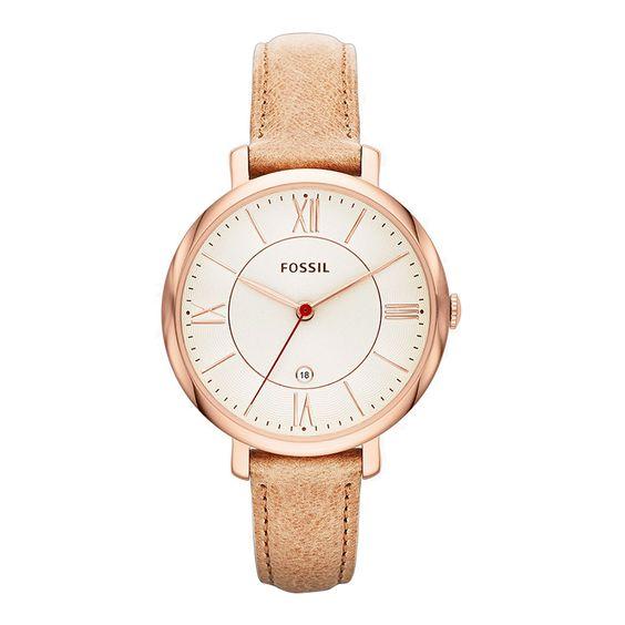 đồng hồ fossil nữ dây da