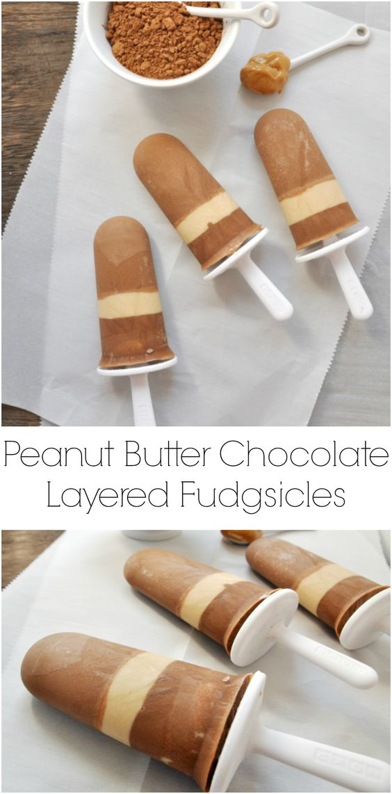 Peanut Butter Chocolate Layered Fudgsicles. You had me at peanut butter...and chocolate. Dairy free, gluten free and so good!