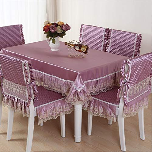 Zghafbes Top Grade Quilting Dining Table Cloth Chair Covers